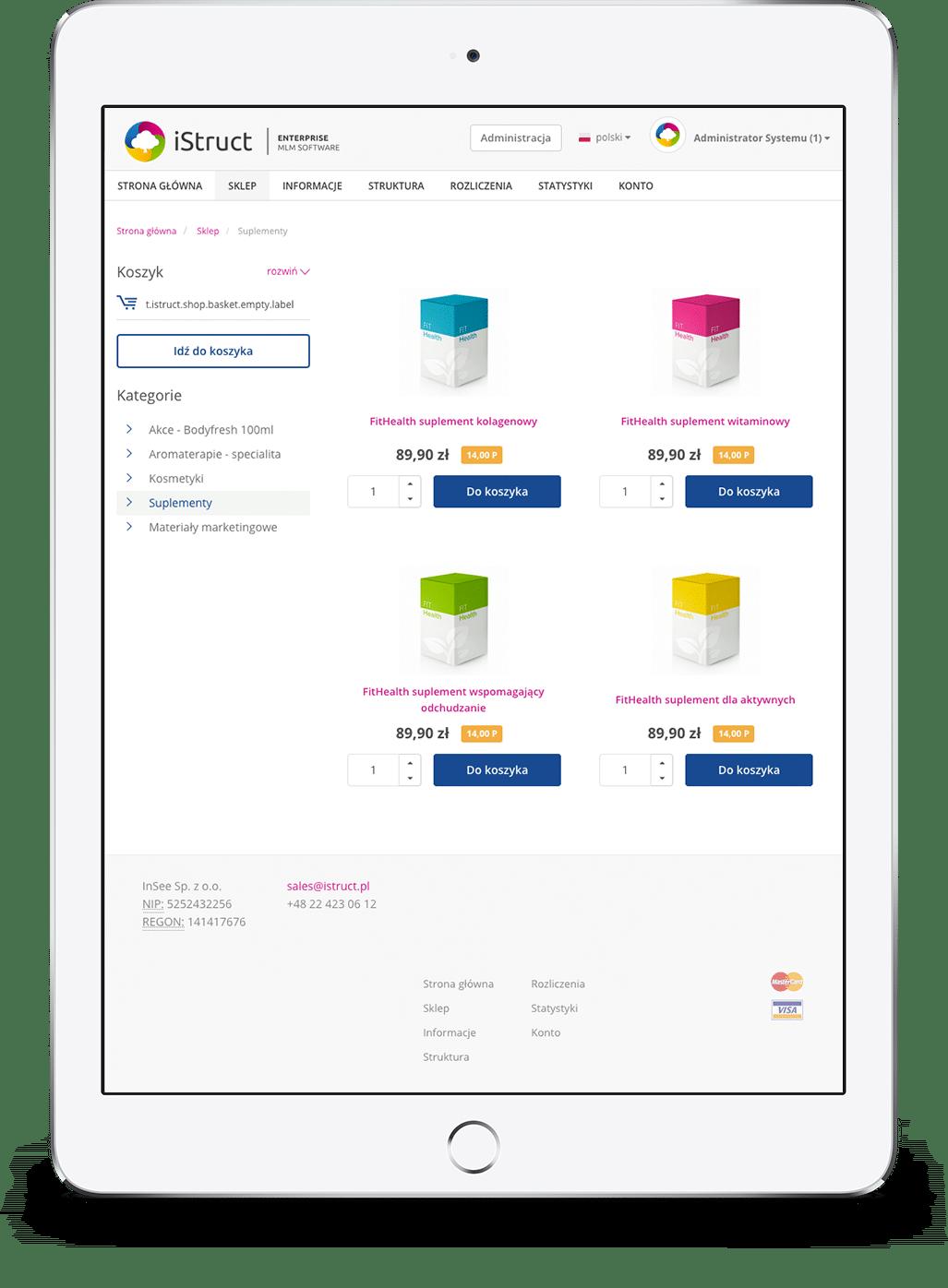 3606b18f392ce iStruct - Oprogramowanie Enterprise dla MLM i Sprzedaży Bezpośredniej